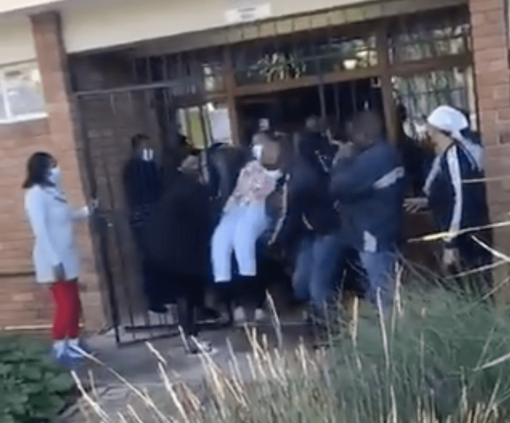 WATCH: Frustrated Laerskool Theresapark parents physically remove principal