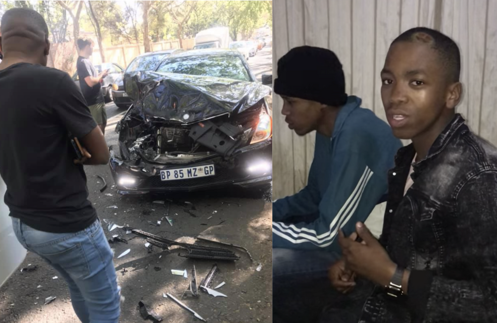 Mfana kah Gogo and his crew survive a car accident