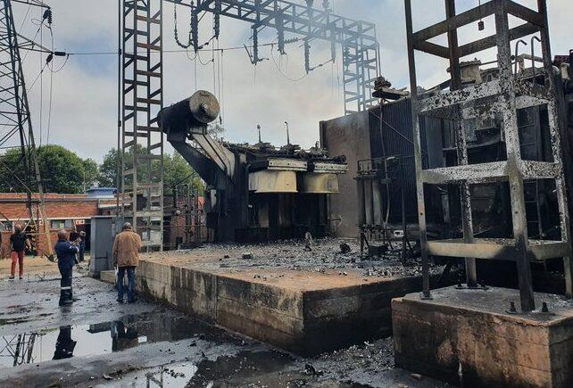 Transformers damaged in Robertsham substation fire